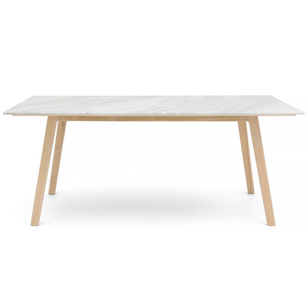 8 or 12 Seater Scandi Rectangle Marble Dining Table