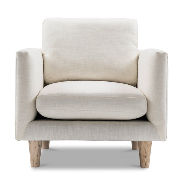 1-Seater Scandinavian Ivory White Armchair
