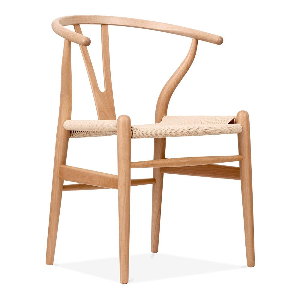 Natural Coloured Scandi Timber Wishbone Dining Chair