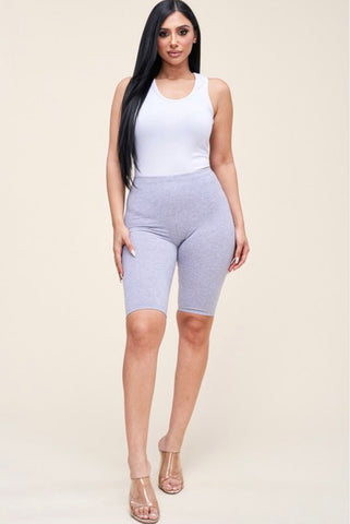 Biker shorts - Heather Grey