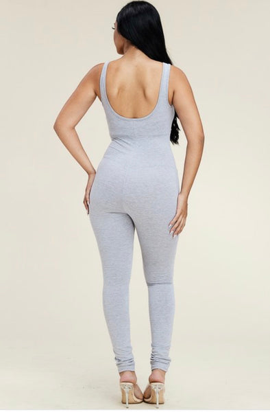 Jumpsuit - Heather Grey