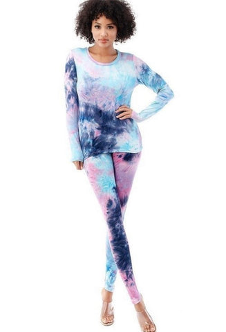 Cyan Tie Dye Set - Purple