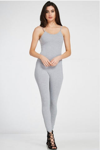 Plus Size Jumpsuit - Heather Grey
