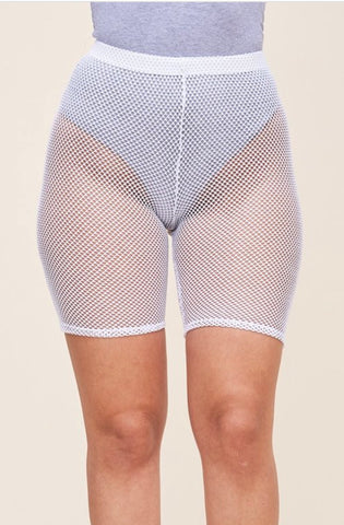 Fishnet biker shorts - Snow White