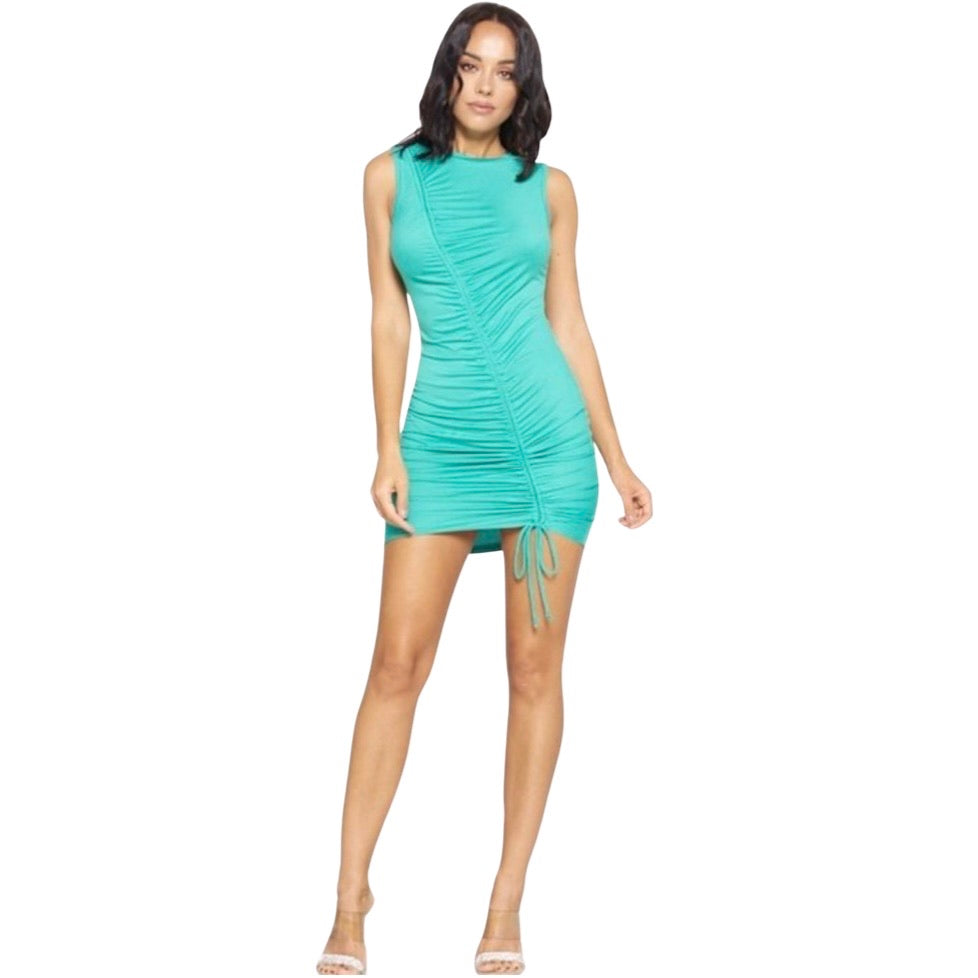 String Me Up Dress - Turquoise