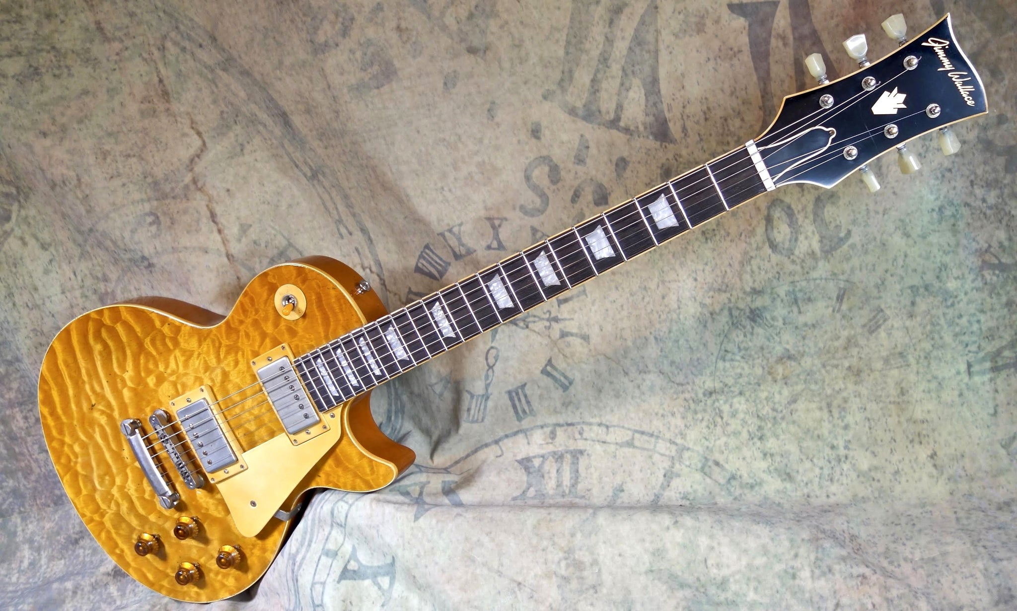 Jimmy Wallace LP in Stunning Amber Quilt Maple