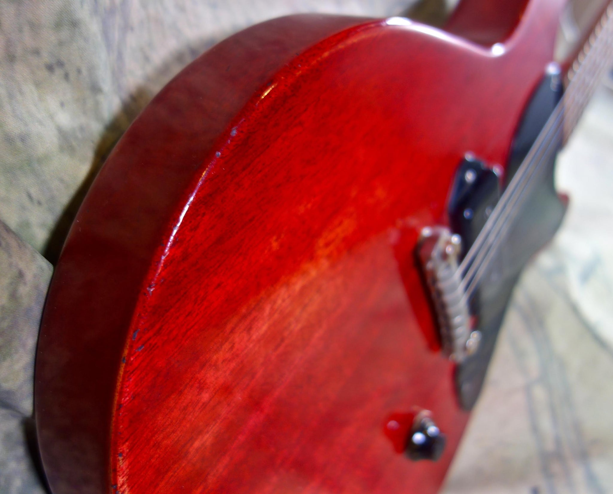 Jimmy Wallace LP Jr. Cherry Double Cutaway