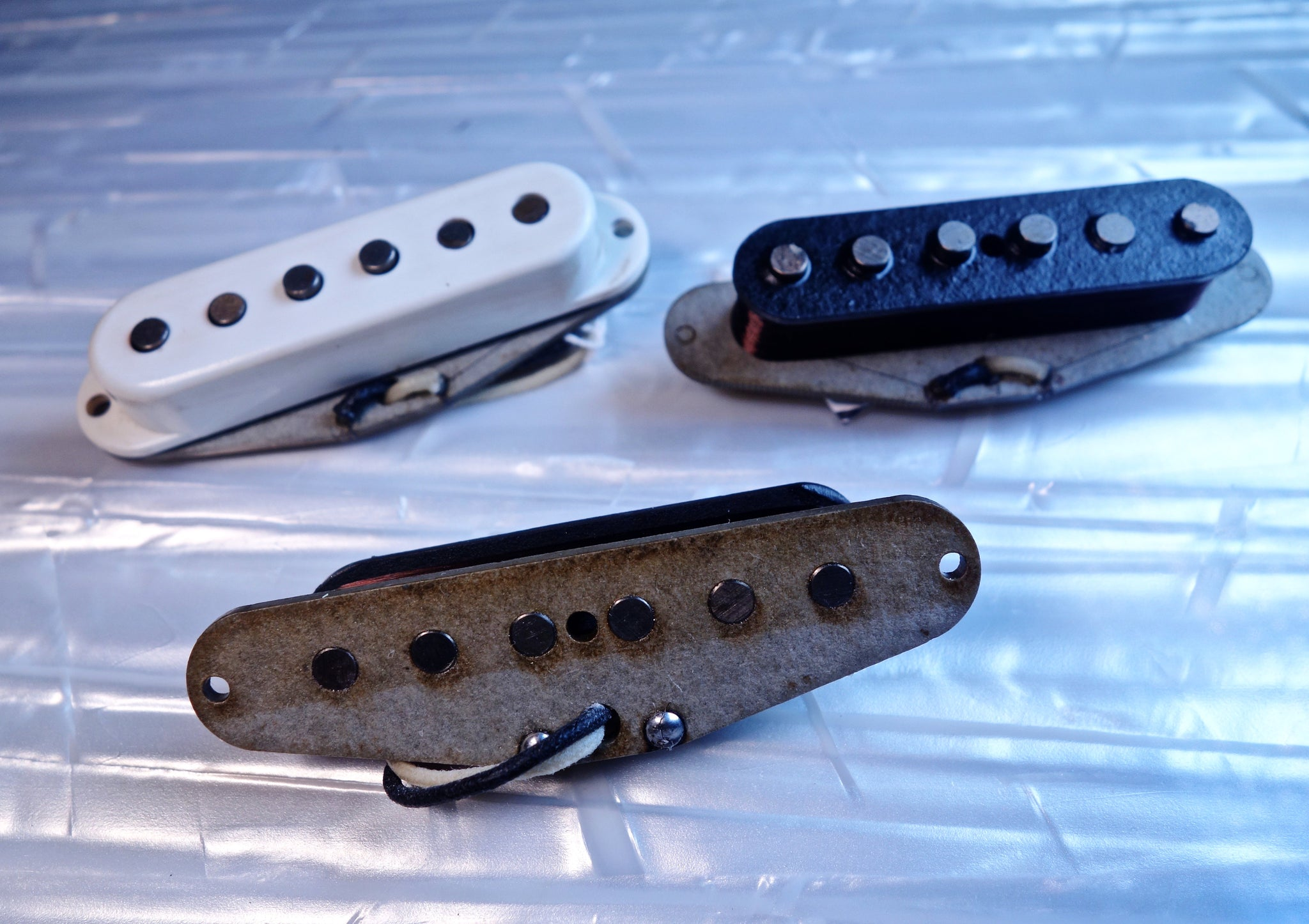 60's Stratocaster Pickup (Grey Bottom - set)