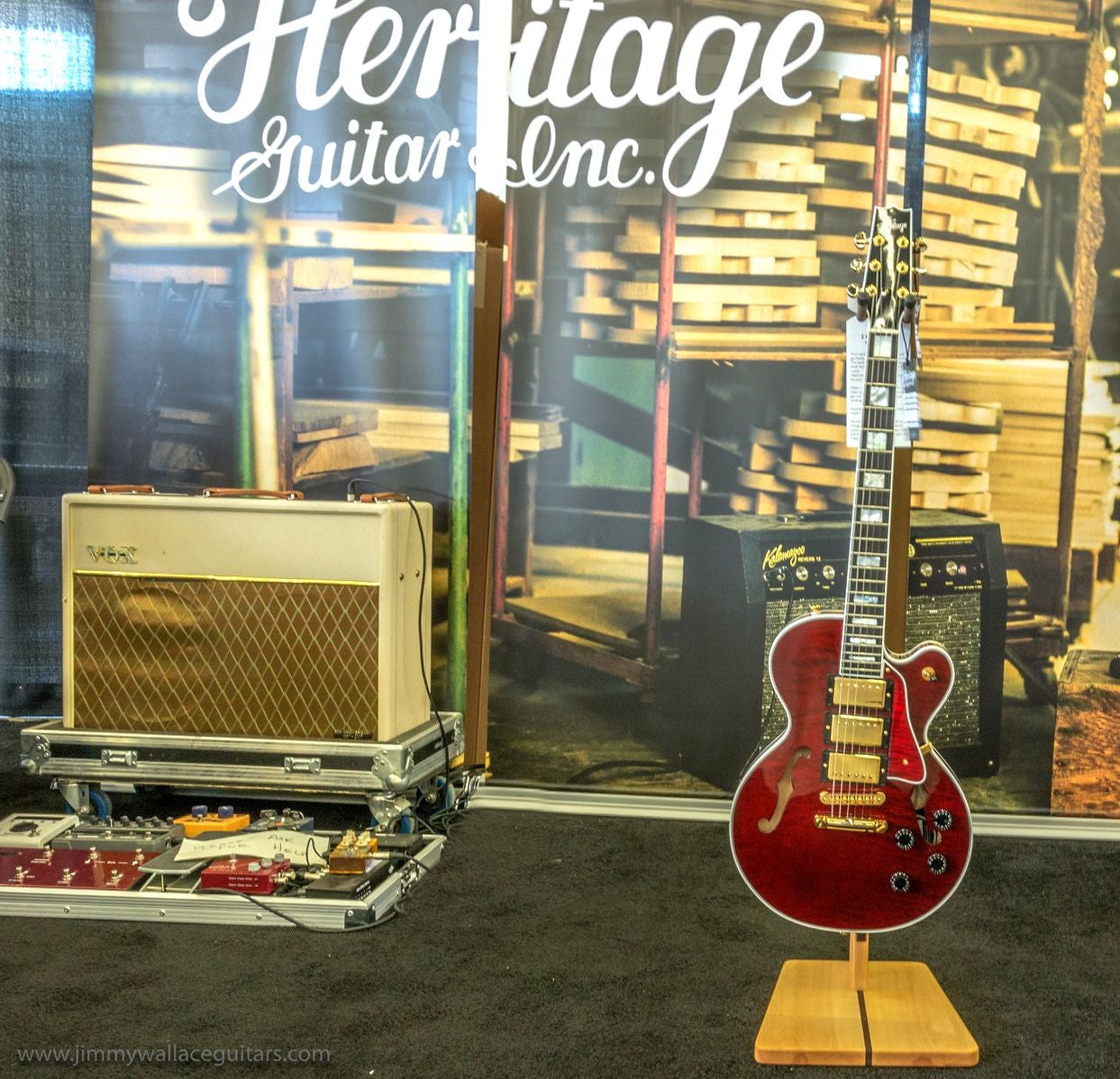Heritage H 155M Rare 3 - Pickup Wine Red Translucent ****SOLD****