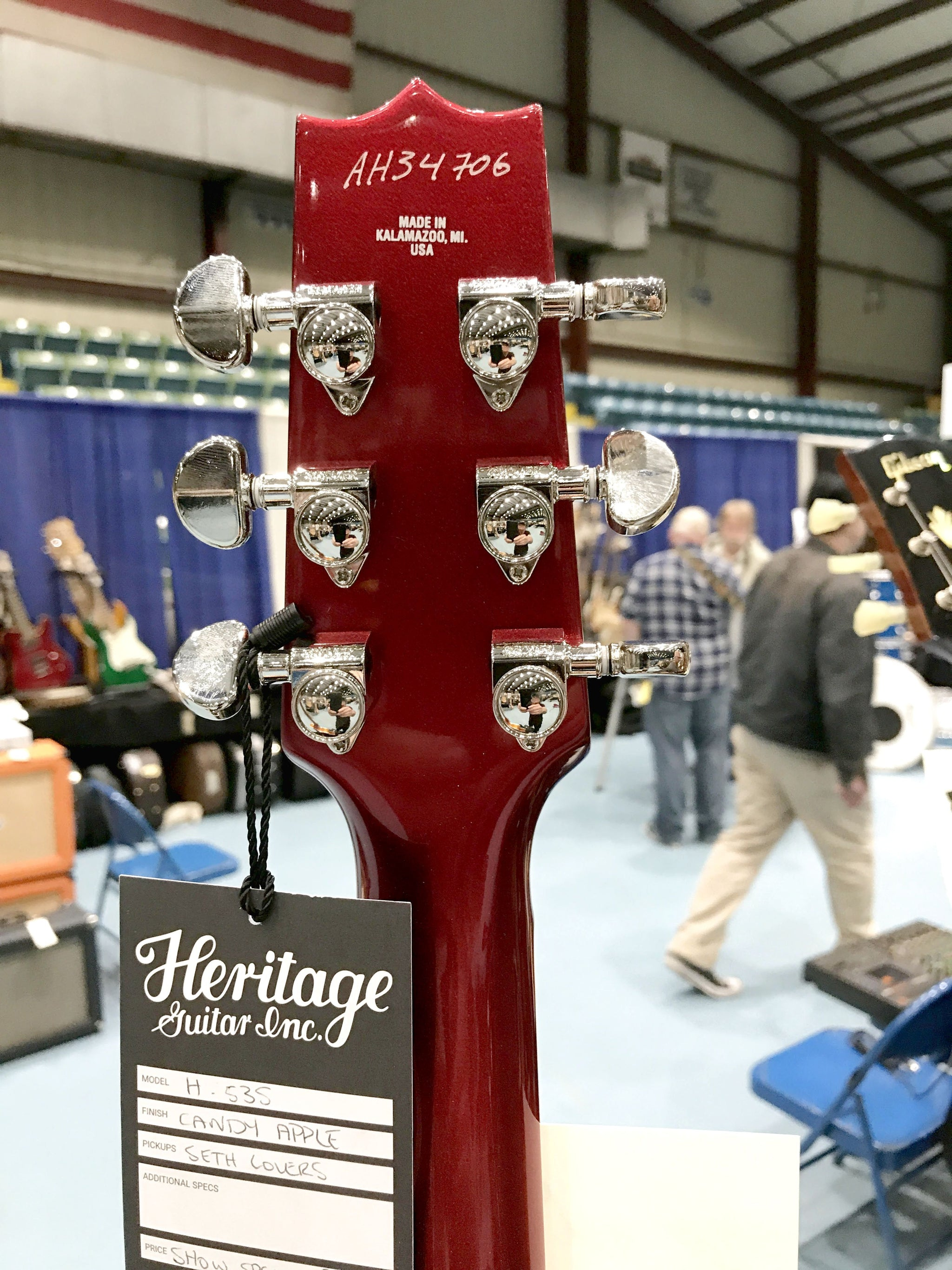 Heritage H 535 Semi Hollow Body in Beautiful Candy Apple Red
