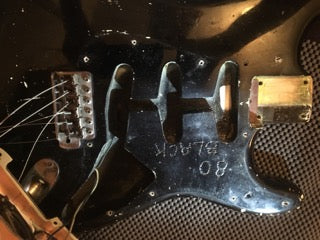 **** SOLD **** RARE 1962 Factory Black Stratocaster