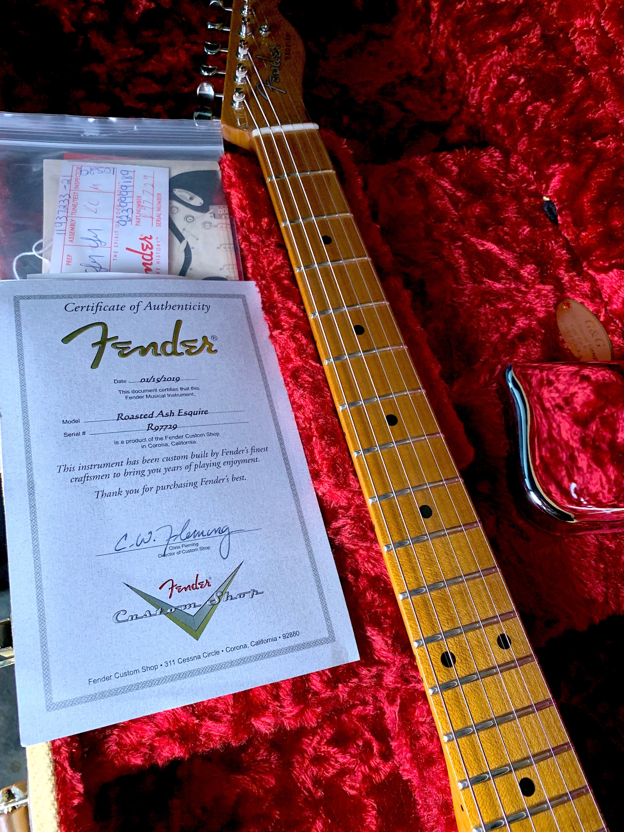 "2019 Fender Custom Shop ""Roasted Ash Esquire"""
