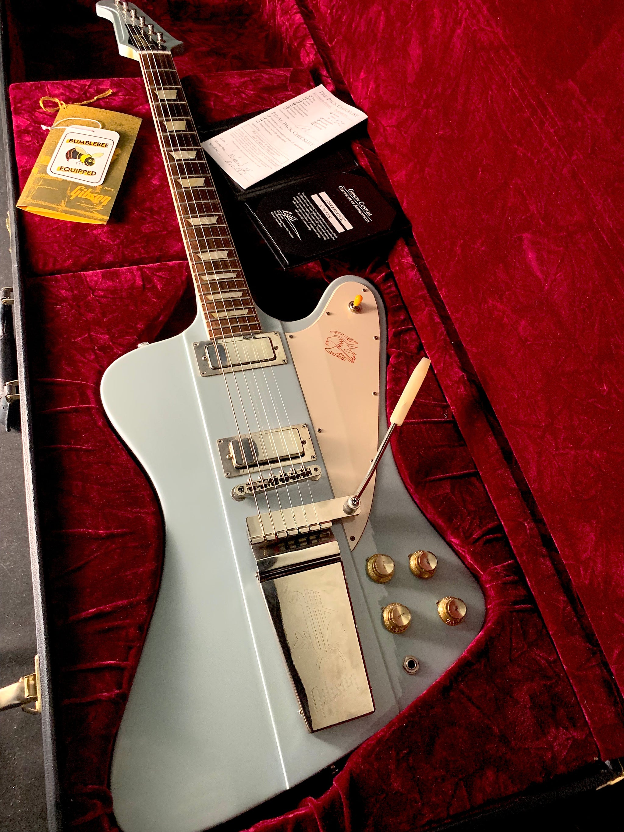 Gibson Custom Shop Firebird V - Frost Blue