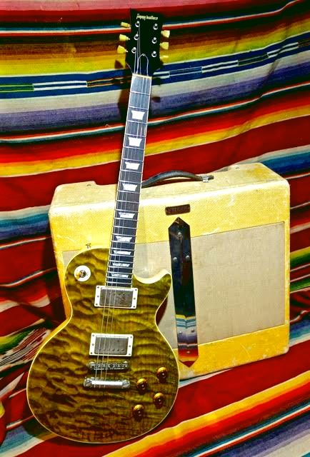 Jimmy Wallace LP Green Tiger Quilt ****SOLD****