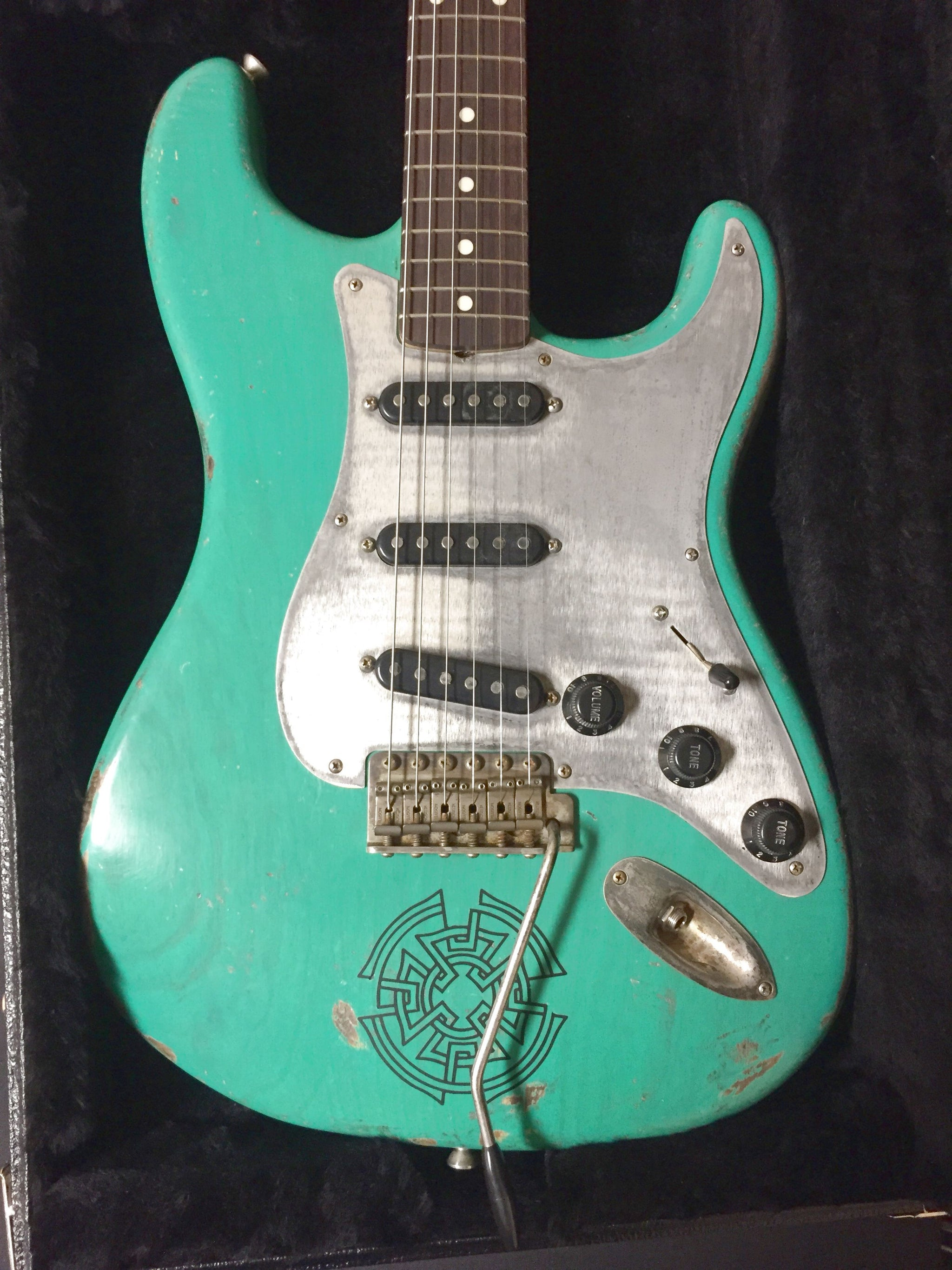 Jimmy Wallace Green Tattoo Stratocaster ****SOLD**** Special Order One!