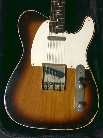 Jimmy Wallace Telecaster Deluxe 2-Tone Sunburst Double Bound