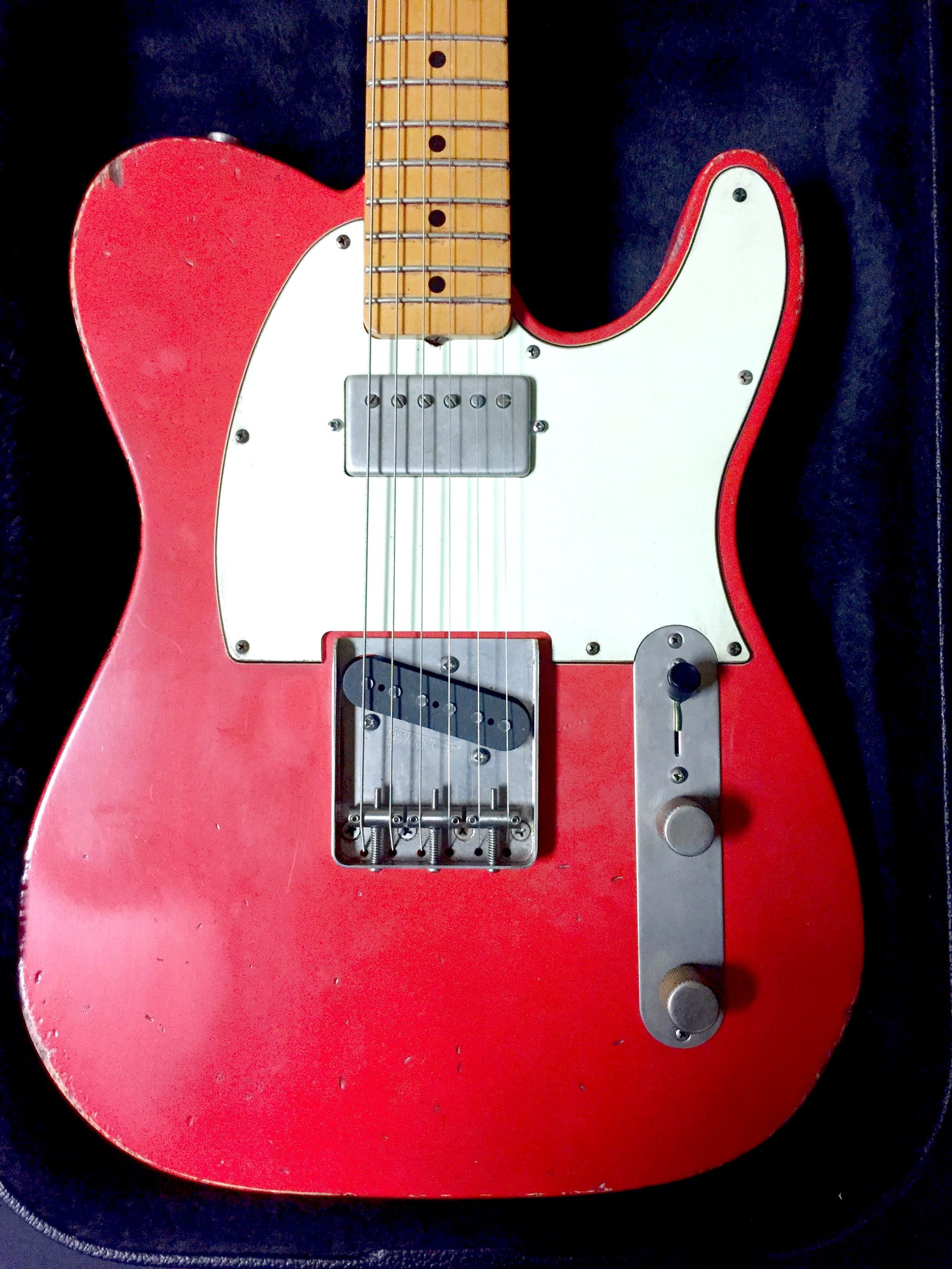 Jimmy Wallace Dazzling Hot Rod Red Telecaster