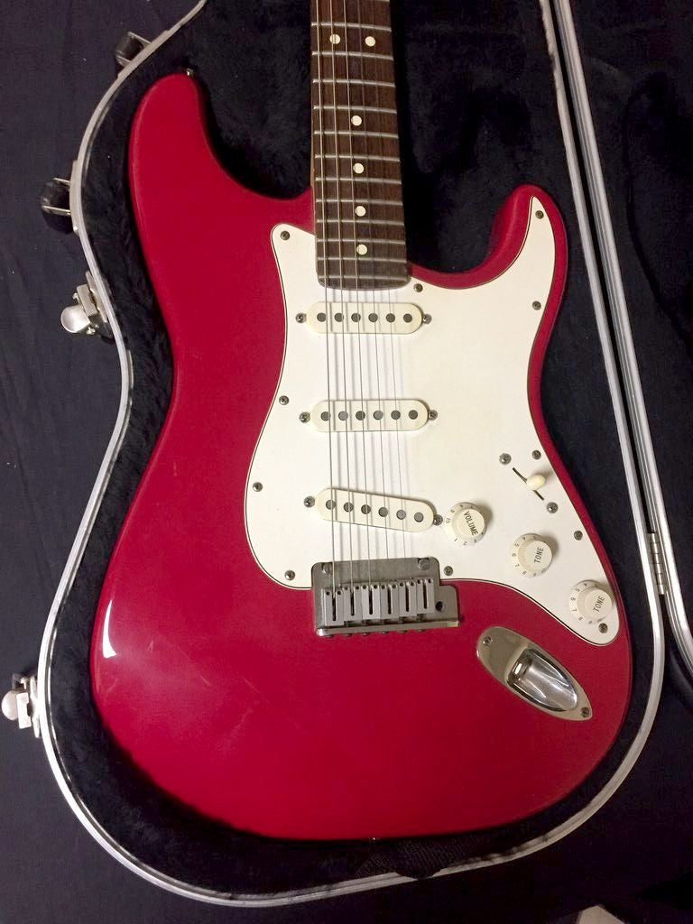 Fender 1995 Standard Stratocaster Hot Rod Red
