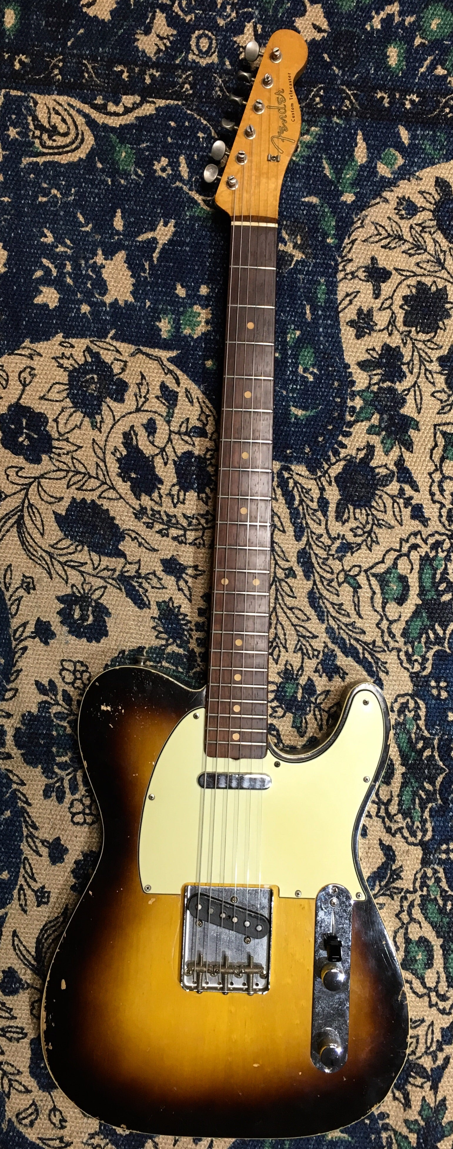 VERY RARE 1960 Double-bound Two-tone sunburst Telecaster Custom