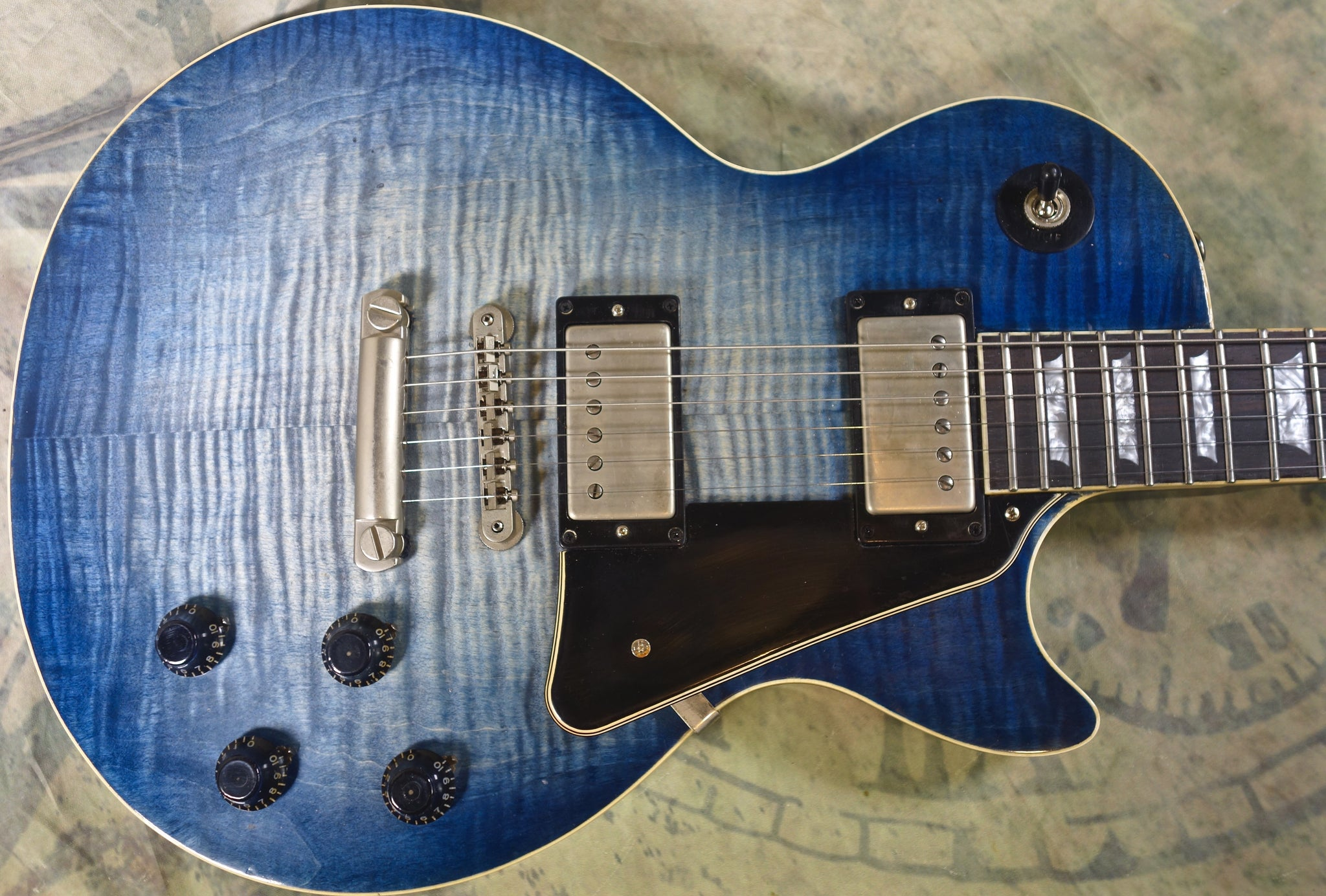Jimmy Wallace Flame Blue Burst LP