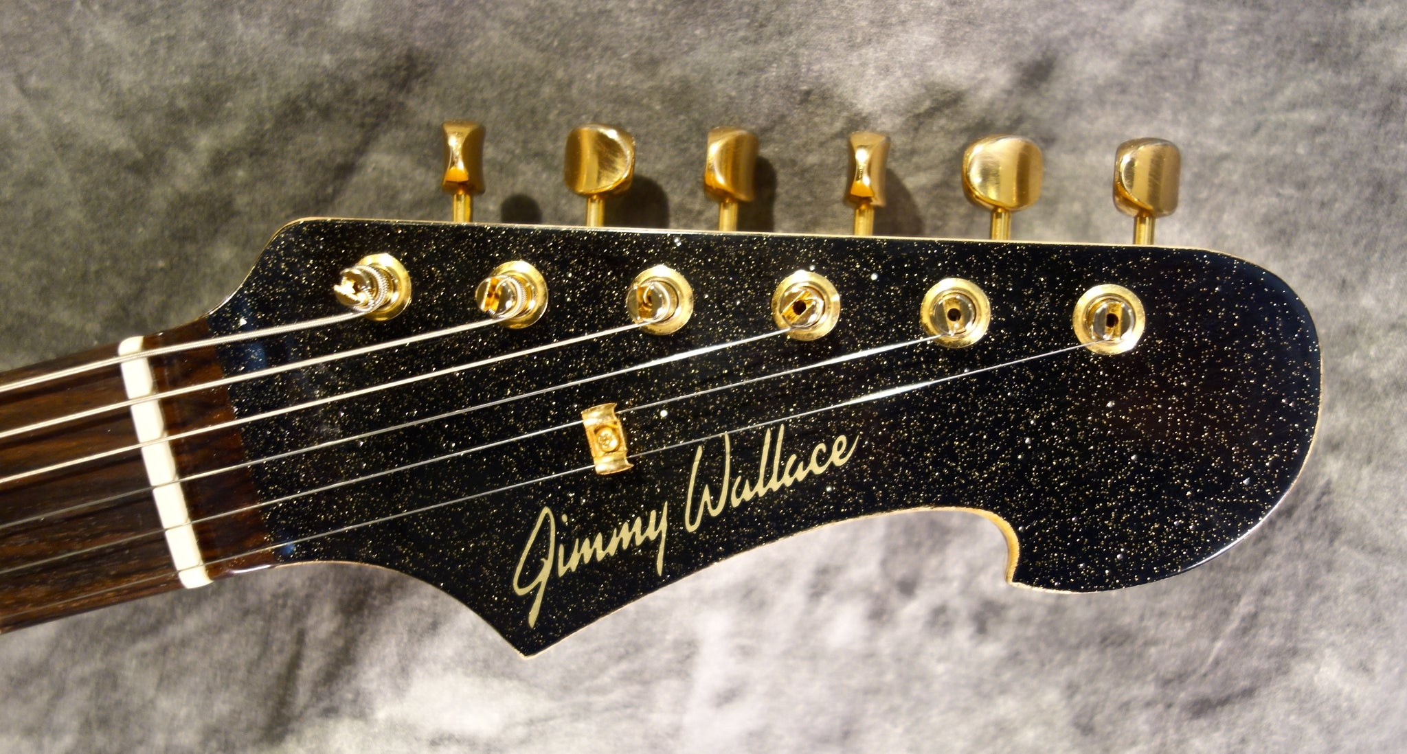 "Jimmy Wallace ""Sierra"" Black Gold Sparkle Matching  Headstock!"