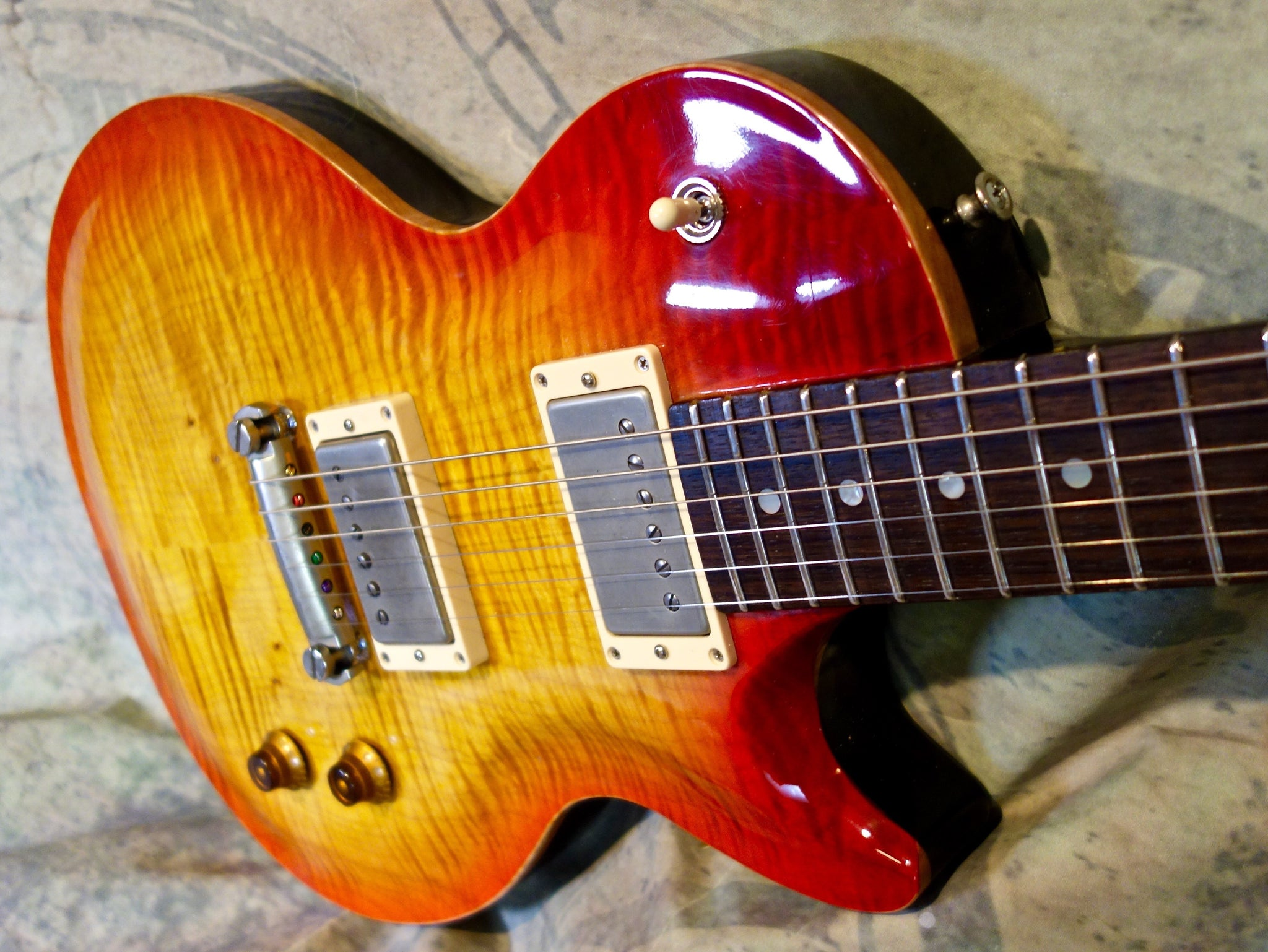 Jimmy Wallace Flame Top Cherry Burst