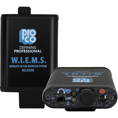 Pro Co Sound W.I.E.M.S. Wireless In-Ear Monitoring System (5.8 GHz)