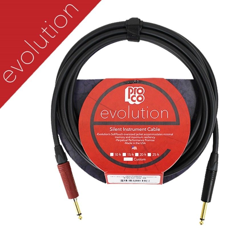 ProCo Evolution Instrument Cable - 10' (EVLGCSN-10) Pro co