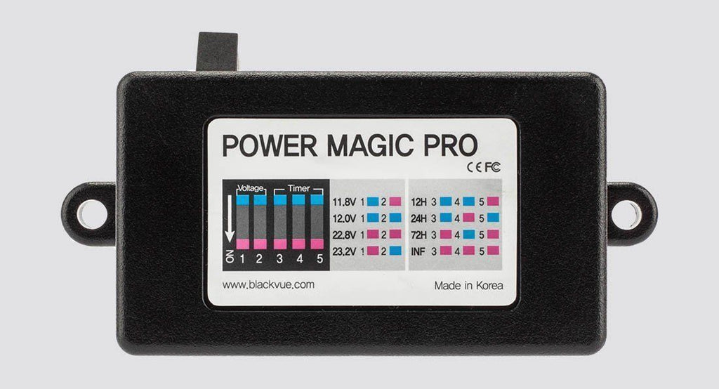 (With purchase of dashcam) Power Magic Pro for BlackVue Dash Cameras For Parking Mode Battery Protection