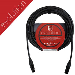 ProCo EVOLUTION Studio/Stage Quad XLR Microphone Cable, 25 Ft (EVLMCN-25) Pro co