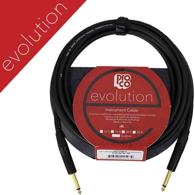 ProCo Evolution Instrument Cable - 10' (EVLGCN-10) Pro co