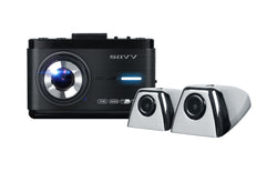 SAVV M35-S2 3 Channel Dashcam (Front + 2 Side Cameras) (Parking mode, Wi-Fi, Touchscreen, ADAS) 32GB