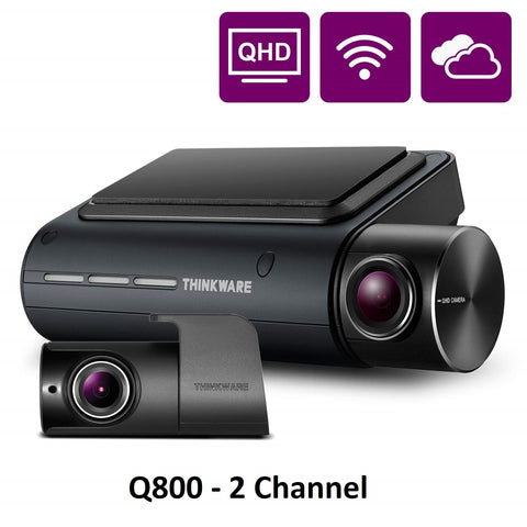 Thinkware Q800PRO 2 Channel Dash Cam 2K QHD Camera Recorder DVR WiFi GPS (32GB)
