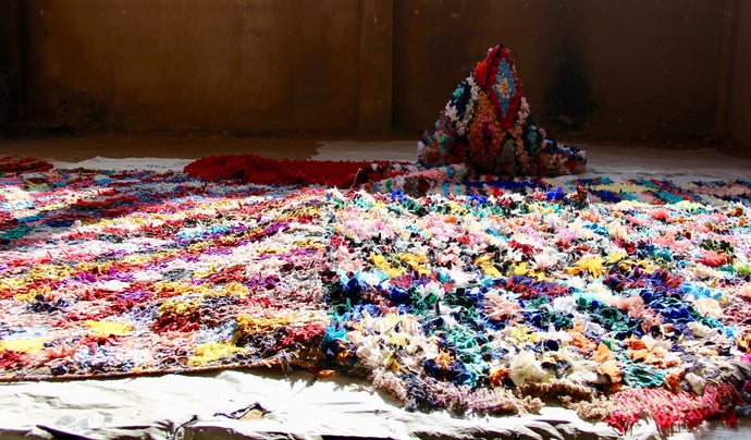 how are boucherouite rugs made?