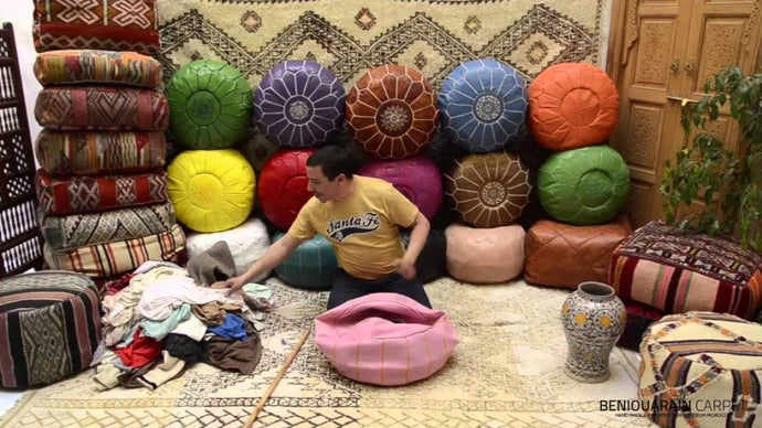How to stuff a moroccan ottoman pouf