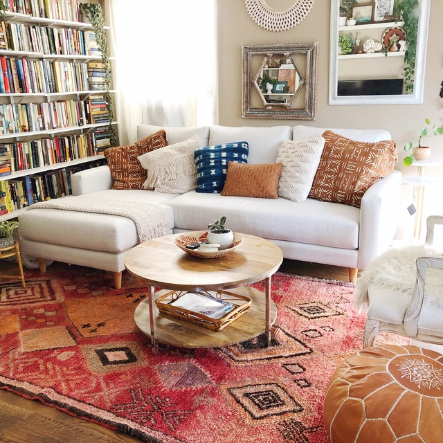 moroccan rug red