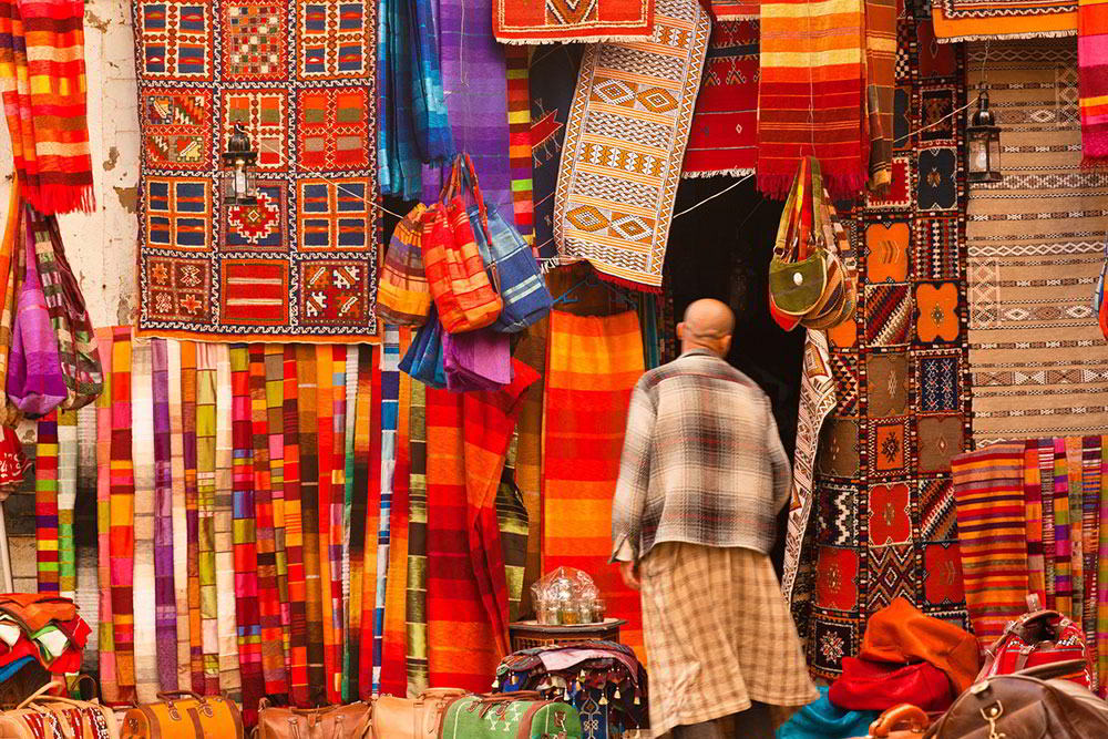 marrakech local street rug