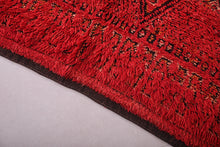 Red moroccan rug 6.7 ft x 8.6 ft