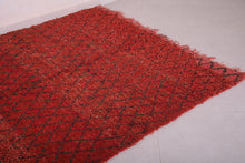 Red moroccan rug 5.3 FT X 7.4 FT
