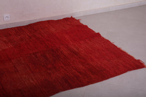 Red moroccan carpet 5.1 FT X 7.5 FT