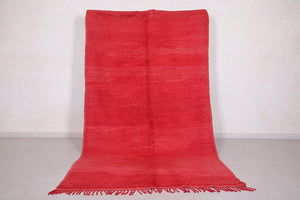 Moroccan rug red 5.4 FT X 9.3 FT