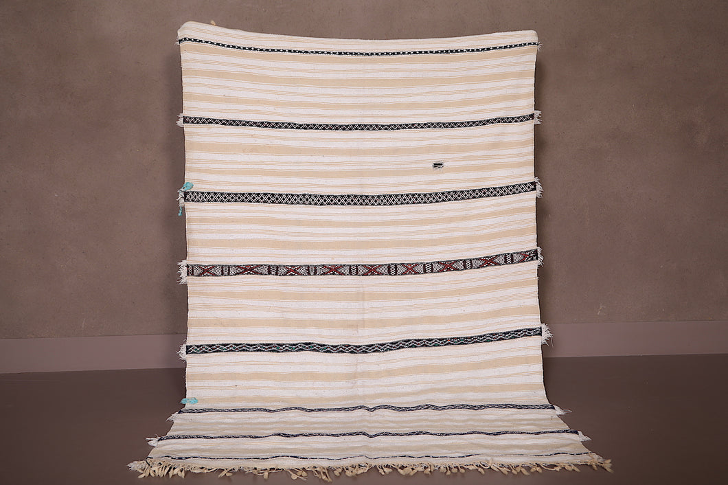 Berber Wedding Blanket Rug, 3.7 FT X 5.5 FT