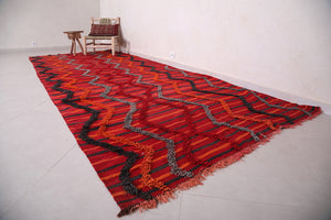 Red Hallway Moroccan rug 5.6 ft x 13.4 ft