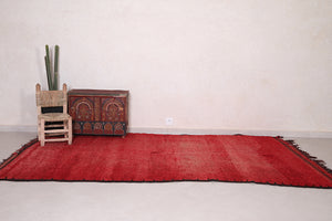 Red Moroccan rug 5 FT X 11.4 FT