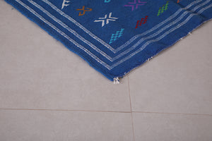 Moroccan rug blue 3.2 FT X 5 FT