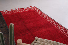 Moroccan rug red 6.2 FT X 10.2 FT