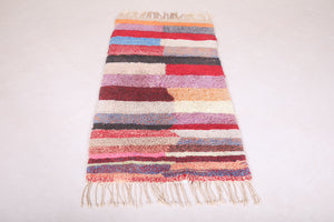 Colorful Boucherouite azilal rug  2.7 ft x 6.3 ft