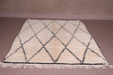 All wool Berber Beni ourain rug 5.4 FT X 7.5 FT