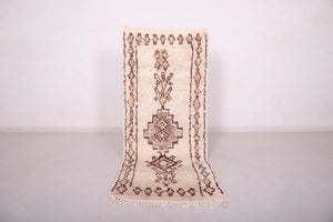 Moroccan Beni ourain rug 2.6 FT X 6.6 FT