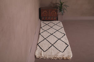 Long runner rug from Morocco 2.5ft x 9ft